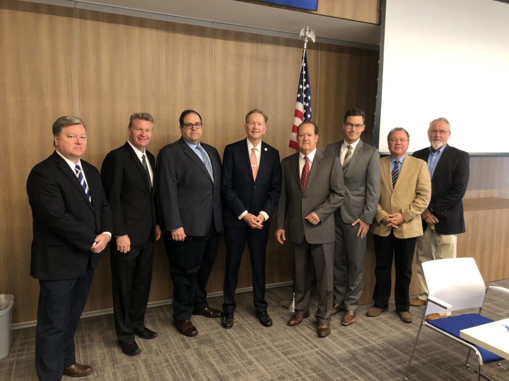 Board Member Dean West, CPA; Board Vice Chair Steve Jones; Board Chair Brian Probolsky; Auditor-Controller Eric Woolery, CPA; Board Member Phillip E. Yarbrough; Board Member Chris Gaarder; Board Member Charles Barfield; Board Member Steve Franks